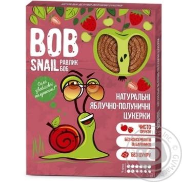 Цукерки Bob Snail яблучно-полуничні натуральні 120г - купити, ціни на МегаМаркет - фото 1