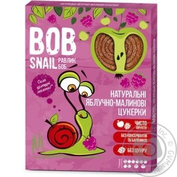 Цукерки Bob Snail яблучно-малинові натуральні 120г - купити, ціни на МегаМаркет - фото 1