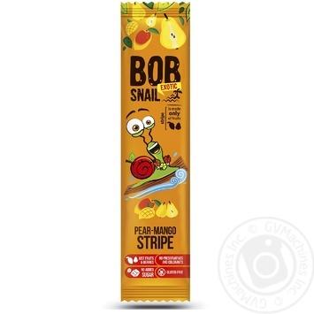 Конфеты Bob Snail грушево-манговый страйп 14г - купить, цены на Восторг - фото 1