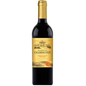 Вино Chamboustin красное полусладкое 11,5% 0,75л