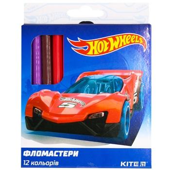 Kite Hot Wheels Felt-tip pen 12 colors