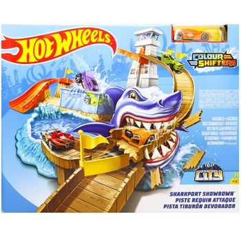 Hot Wheels Shark hunting Track for toy cars
