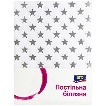 Комплект постельного белья Aro двуспальный серый