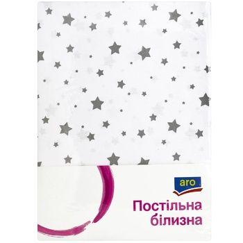 Комплект постельного белья Aro евро белый звезда