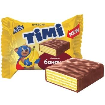 Конфеты вафельные Konti Timi со вкусом банана