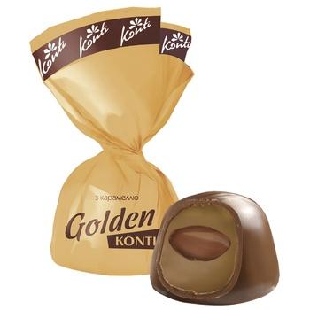 Цукерки Konti Golden з карамеллю - купити, ціни на CітіМаркет - фото 1