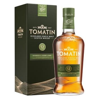 Виски Tomatin 12 лет 43% 0,7л - купить, цены на СитиМаркет - фото 1