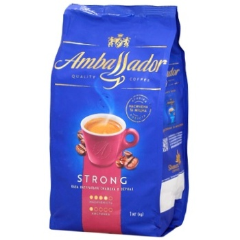 Ambassador Strong Coffee Beans 1kg - buy, prices for Auchan - photo 2