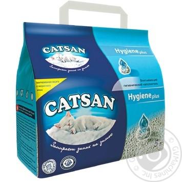 Наполнитель гигиенический Catsan 5л - купить, цены на Ашан - фото 1