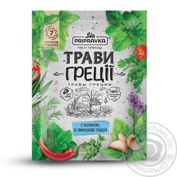 Приправа Pripravka Травы Греции с чесноком и лимонной травой 10г - купить, цены на Фуршет - фото 1