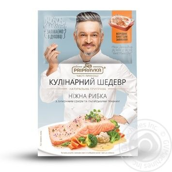 Pripravka with lemon juice and Italian herbs for fish spices 15g + package for baking - buy, prices for Novus - image 1