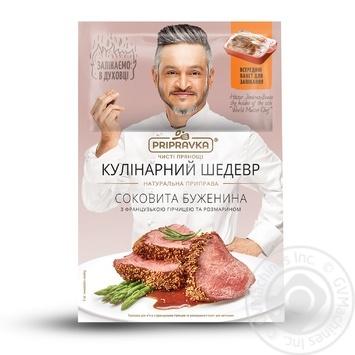 Натуральная приправа Pripravka для мяса с французской горчицей и розмарином (с пакетом) Кулинарный Шедевр 30г - купить, цены на Novus - фото 1
