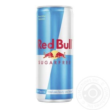 Напиток энергетический Red Bull безалкогольный без сахара ж/б 0,25л - купить, цены на Novus - фото 1