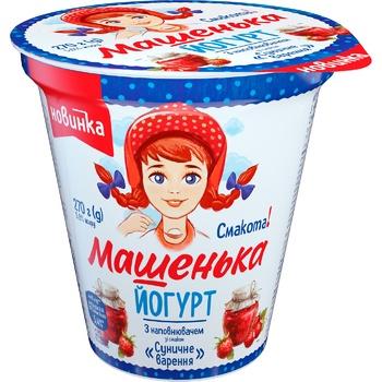 Йогурт Ромол Машенька земляничное варенье 5% 270г