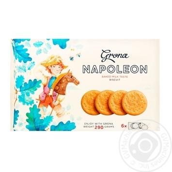Печенье Грона Наполеон 290г - купить, цены на Ашан - фото 1
