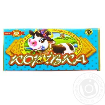 Печенье Бисквит Шоколад Коровка сливочный вкус 180г - купить, цены на Фуршет - фото 1