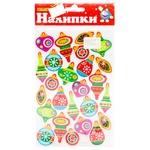 Novogodko Christmas Glitter Stickers 26x15cm