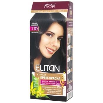 Краска для волос Элитан интенсив №1.10 Черный бриллиант - купить, цены на ЕКО Маркет - фото 1