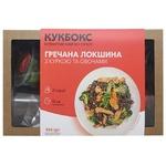 Набор Кукбокс для приготовления гречневой лапши с филе курицы и овощами 554г