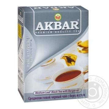 Чай чорний Akbar Earl Grey 100г - купити, ціни на Таврія В - фото 1