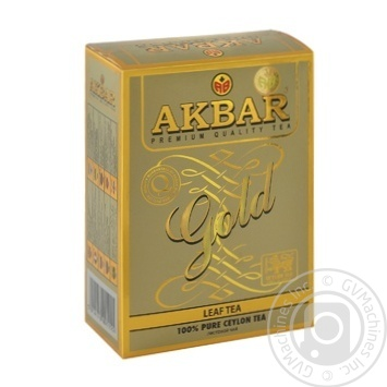Tea Akbar black loose 100g cardboard packaging - buy, prices for Novus - image 1