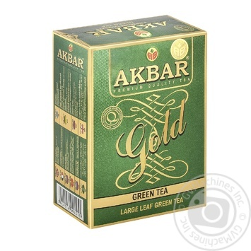 Tea Akbar green loose 100g cardboard packaging