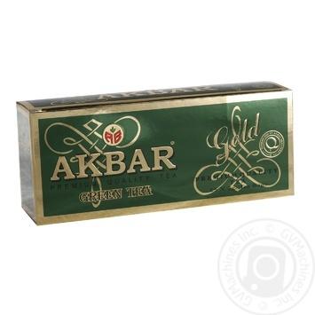 Зеленый чай Акбар Грин Голд в пакетиках 25х2г - купить, цены на Таврия В - фото 1
