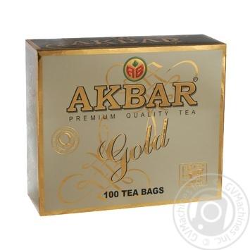 Tea Akbar black packed 200g cardboard packaging