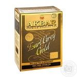 Black tea Akbar Earl Grey Gold with bergamot big leaf 80g - buy, prices for MegaMarket - image 1