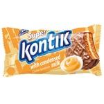 Печиво-сендвіч Konti Супер-Контік зі згущеним молоком в глазурі 100г