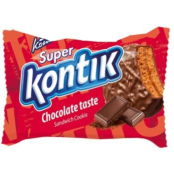 Печенье Konti Супер-Контик шоколадный вкус 50г