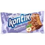 Печенье Konti Super Kontik сэндвич молочный со вкусом фундука 100г