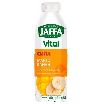 Напій сокомісткий Jaffa Vital Сила манго-банан з екстрактом женьшеню та рослинними протеїнами 0,5л