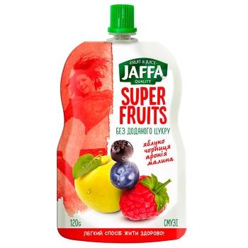 Смузі Jaffa Super Fruits з перетертих яблук, чорниці, аронії та малини 120г - купити, ціни на CітіМаркет - фото 1