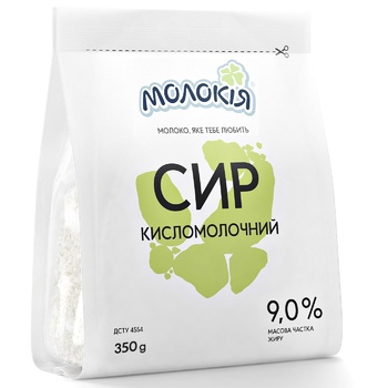 Molokiya Cottage Cheese 9% 350g