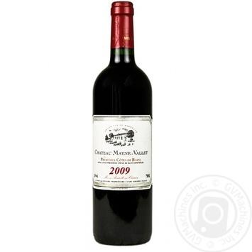 Вино Chateau Mayne - Vallet красное сухое 14,5% 0,75л