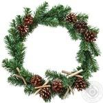 Венок Рождественская ночь с украшениями 40см