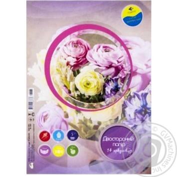 Набор цветной бумаги LightGreen 7 цветов 14 листов
