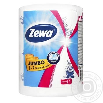 Полотенца кухонные Zewa Design Jumbo бумажные - купить, цены на МегаМаркет - фото 1