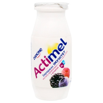 Danone Actimel Wild Berries Flavored Fermented Milk Product 1,5% 100g - buy, prices for CityMarket - photo 1