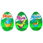 Яйцо Frumi Динозавры шоколадное с игрушкой внутри 22г