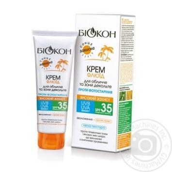 Крем-флюид Биокон для лица и зоны декольте SPF35 75мл