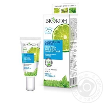 Крем-гель для шкіри навколо очей Біокон Натуральний догляд 25+ 20мл - купити, ціни на МегаМаркет - фото 1