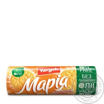 Biscuits Maria classic Yarych 160g - buy, prices for Novus - image 1