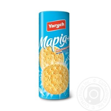 Печенье Yarych Мария с молоком и кальцием 155г - купить, цены на Novus - фото 1