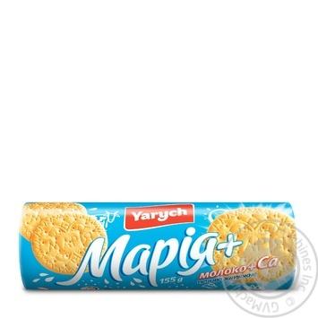 Печенье Yarych Мария с молоком и кальцием 155г - купить, цены на Ашан - фото 2