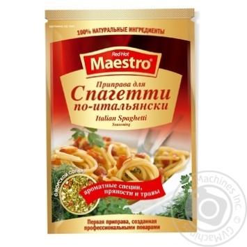 Приправа Red Hot Maestro к спагетти по-итальянски 25г - купить, цены на Novus - фото 1
