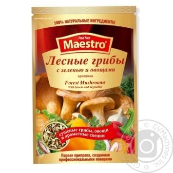 Приправа Red Hot Maestro лесные грибы с зеленью и овощами 25г - купить, цены на Novus - фото 1