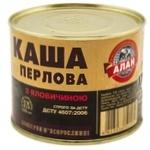 Консерви Алан Каша перлова з яловичиною 525г