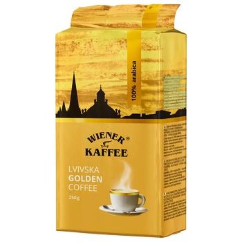 Lvivska Golden Coffee Ground 250g - buy, prices for CityMarket - photo 1